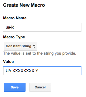 Setup Universal Analytics ID macro in Google Tag Manager